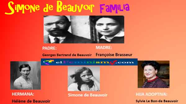 familia-completa-de-simone-de-beauvoir-con-hija-adoptiva